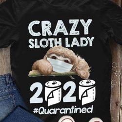 T-SHIRT - CRAZY LADY - SLOTH