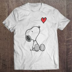 snoopy with a heart