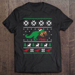 t rex eating reindeer sweater