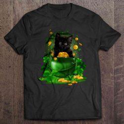 st patrick's day cat shirt