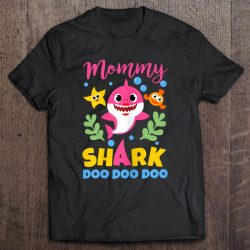 Womens Mommy Shark Gift Cute Baby Shark Family Matching Outfits