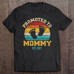 Promoted To Mommy 2021 Vintage Mom