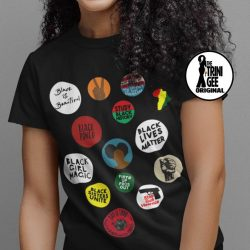 Black Girl Magic Tee - Black Lives Matter Shirt - Afro Puffs - Fists Up Fros Out - Black Fist - African Tee - Black History Shirt