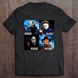 Savage Classy Bougie Ratchet Jason Voorhees Michael Myers Ghostface Freddy Krueger