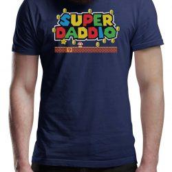 Fathers Day T Shirt SUPER DADDIO Gamer Dad Fun Gift Novelty T-Shirts