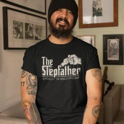 The Stepfather, Officially The World's Best Man, The Godfather, Funny Stepdad Gift, Vintage Gift for Dad, Gift for Stepdad, Fathers Day Gift
