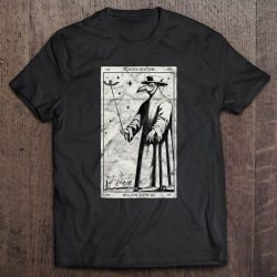 Plague Doctor Occult Black Death Tarot Card Antichrist Witch
