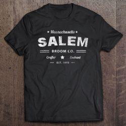Funny Scary Witch Salem Massachusetts Broom Company