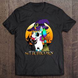 Witchcorn Black Cat Witch Unicorn Halloween