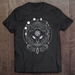 Moon Phases Cat Pagan Witch Wicca Wiccan Shirt For Women