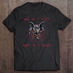 Witchcraft Gift Soul Of A Witch Heart Of A Dragon Sarcastic Pentagram Dragon
