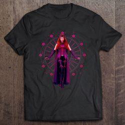 Womens Marvel Wandavision The Scarlet Witch Floating Portrait V-Neck