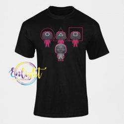 Read the full title Squid Game Tshirt Circle Triangle Square Soldier In-Ho Gift For Fan Read to Play