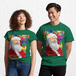 Santa is a Long Haired Hippie Classic T-Shirt